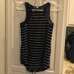EUC small navy and white tank from Maurice's